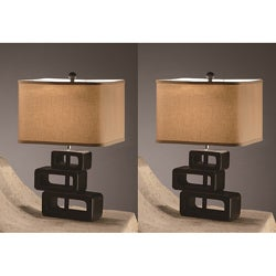 Roddy 22-inch Table Lamps (Set of 2) - Thumbnail 0