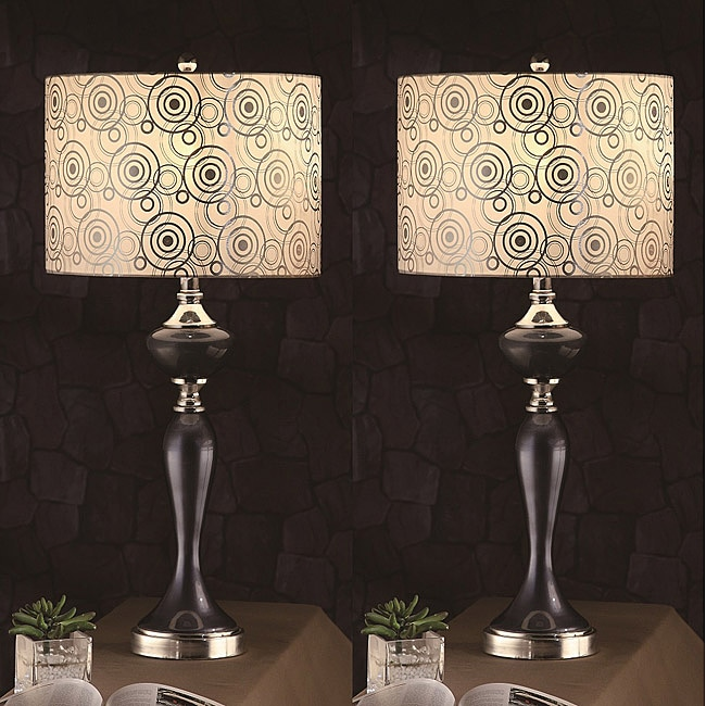 Zebrano 31-inch Blue Table Lamps (Set of 2)