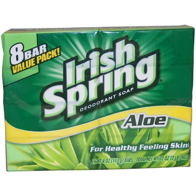 Irish Spring 4-ounce Aloe Deodorant Soap (Pack of 8) (1),...