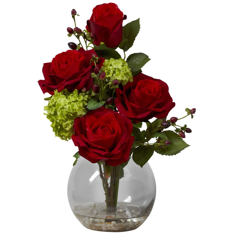 Rose Amp Hydrangea Silk Flower Arrangement Free Shipping