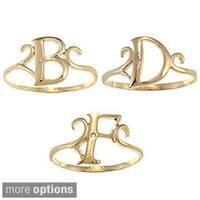 La Preciosa Gold over Sterling Silver Cubic Zirconia Initial Ring