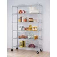 TRINITY NSF 6-tier Chrome Wire Shelving Rack