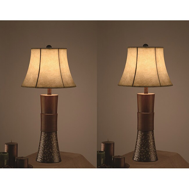 metropool 30 inch table lamps set of 2 free shipping. Black Bedroom Furniture Sets. Home Design Ideas