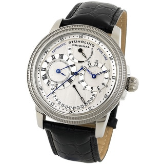 Stuhrling Original Men's Stainless-Steel Saturnalia DT Automatic Watch