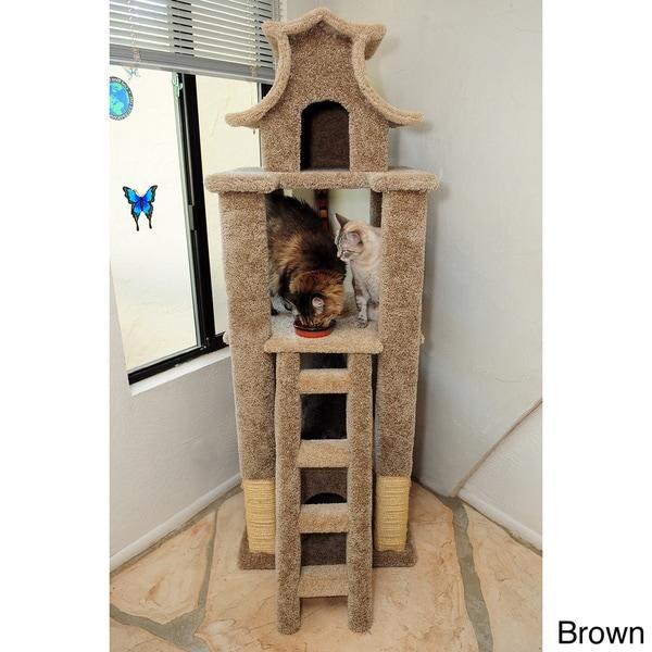 New Cat Condos Designer Cat Pagoda   Free Shipping Today   Overstock.com    13902093