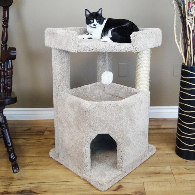 New Cat Condos 33-inch Corner Roost Sturdy Cat Tree (Beig...
