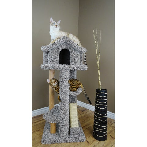 New Cat Condos 46-inch Large Pagoda Cat Tree