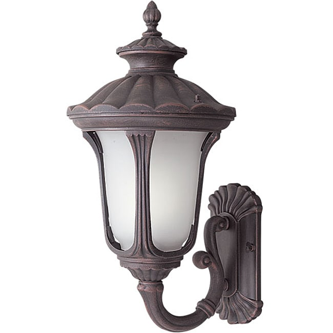 Woodbridge Lighting Westbrook 1-light Rust Small Outdoor Wall Light