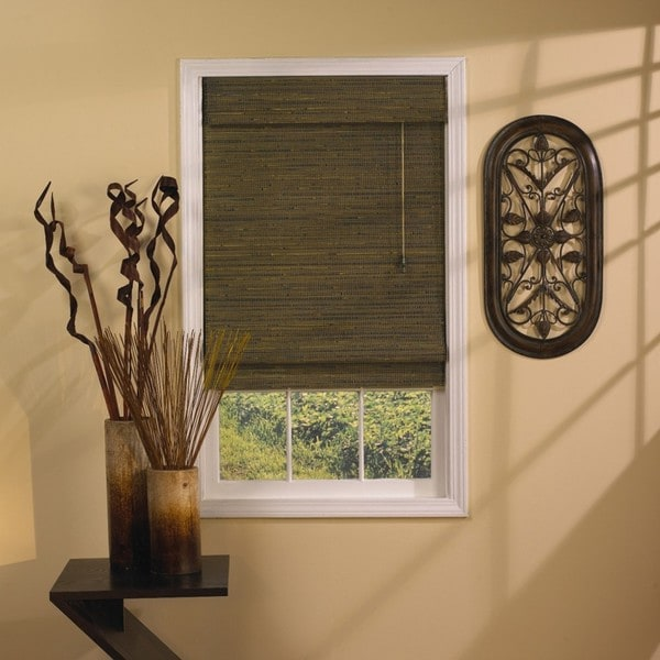 Rangoon Green Tea Roman Shade (35 in. x 72 in.)