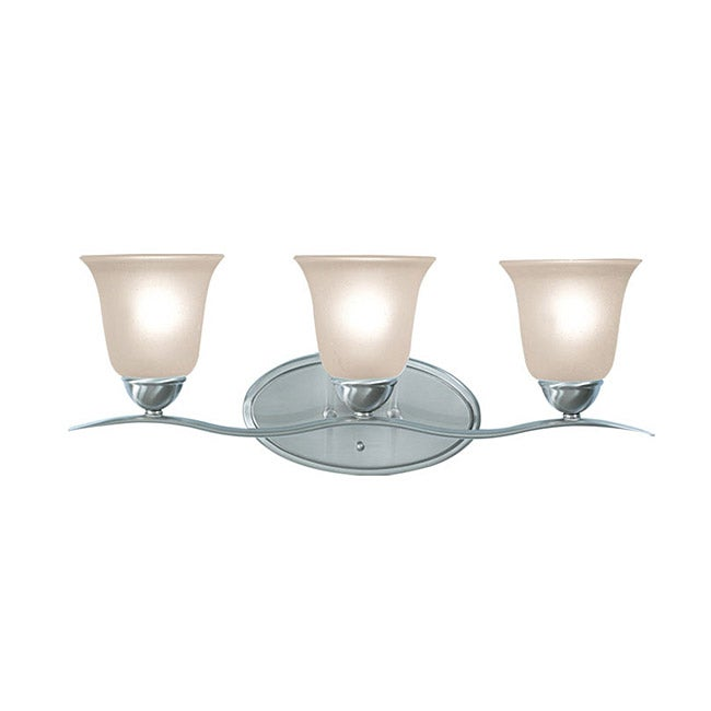 Woodbridge Lighting Beaconsfield 3-light Satin Nickel Bath Bar Light - Thumbnail 0