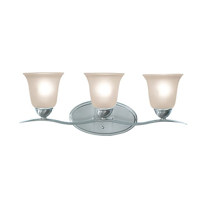 Woodbridge Lighting Beaconsfield 3-light Satin Nickel Bath Bar Light