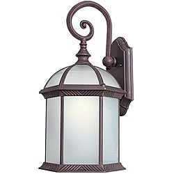 Woodbridge Lighting 61034WL-RTP Glenwood 1-light Large Outdoor Wall Light, Powdered Cost Rust