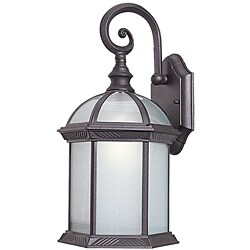 Woodbridge Lighting 61030WL-RTP Glenwood 1-light Small Outdoor Wall Light, Powdered Coat Rust