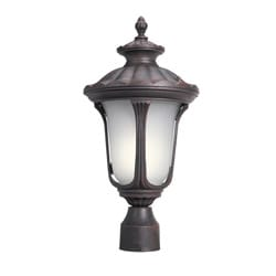 Woodbridge Lighting Westbrook 1-light Powdered Rust Outdoor Post Mount Light
