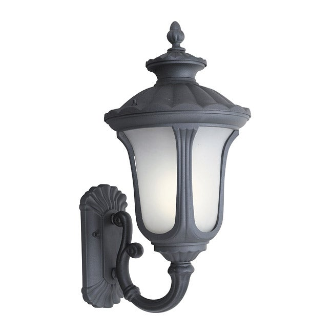 Woodbridge Lighting Westbrook 1-light Powdered Black Large Outdoor Wall Light