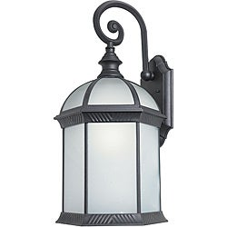 Woodbridge Lighting 61034WL-BKP Glenwood 1-light Large Outdoor Wall Light, Powdered Cost Black