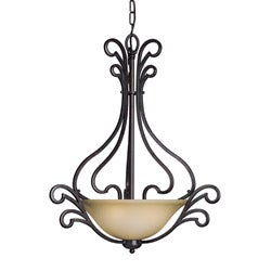 Woodbridge Lighting Palermo 3-light Bordeaux Pendant - Thumbnail 0
