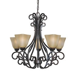 Woodbridge Lighting Palermo 5-light Bordeaux Chandelier