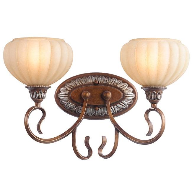 Woodbridge Lighting Liezel 2-light Copper Glow Bath Sconce