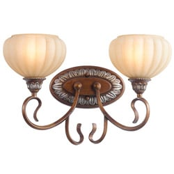 Woodbridge Lighting Liezel 2-light Copper Glow Bath Sconce