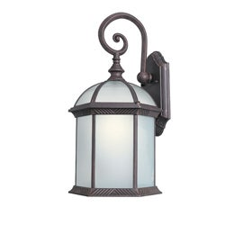 Woodbridge Lighting Glenwood 1-light Powdered Rust Medium Outdoor Wall Light