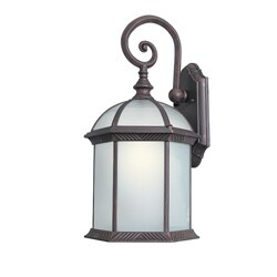 Woodbridge Lighting 61032WL-RTP Glenwood 1-light Medium Outdoor Wall Light, Powdered Coat Rust