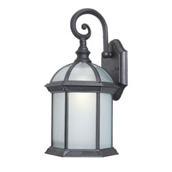 Woodbridge Lighting Glenwood 1-light Black Small Outdoor Wall Light