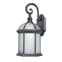 Woodbridge Lighting 61030WL-BKP Glenwood 1-light Small Outdoor Wall Light, Powdered Coat Black
