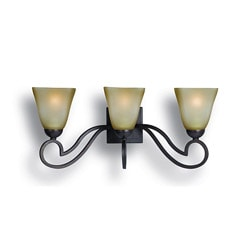 Woodbridge Lighting Palermo 3-light Bordeaux Bath Sconce