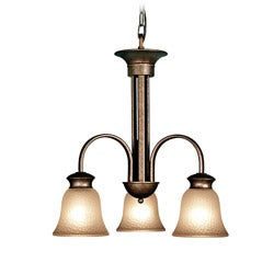 Woodbridge Lighting Dresden 3-light Marbled Bronze Chandelier - Thumbnail 0