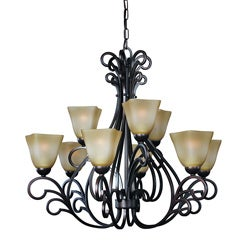 Woodbridge Lighting Palermo 9-light Bordeaux Chandelier