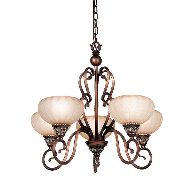 Woodbridge Lighting Liezel 5-light Copper Glow Chandelier