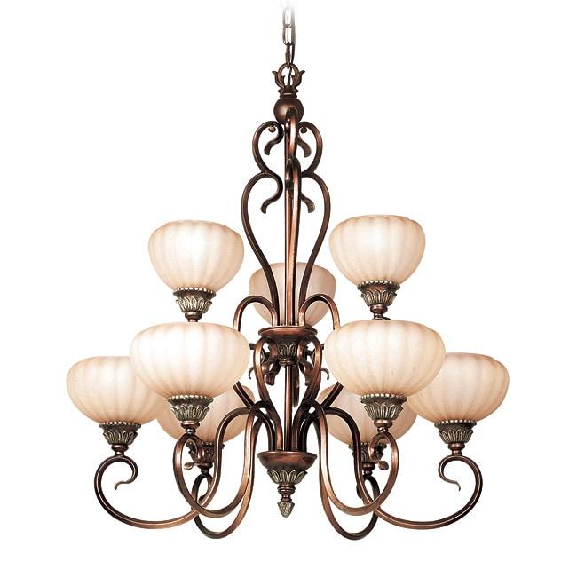 Woodbridge Lighting Liezel 9-light Copper Glow Chandelier