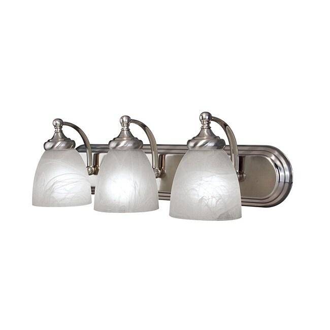 Woodbridge Lighting Kenshaw 3-light Satin Nickel Bath Bar