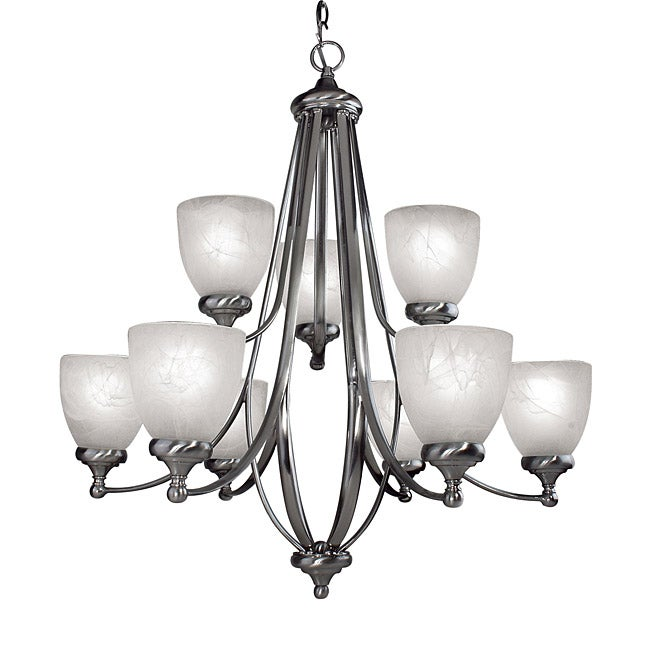 Woodbridge Lighting Kenshaw 9-light Satin Nickel Chandelier