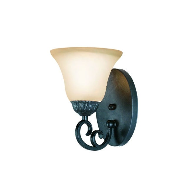 Woodbridge Lighting Jamestown 1-light Textured Black Bath Sconce