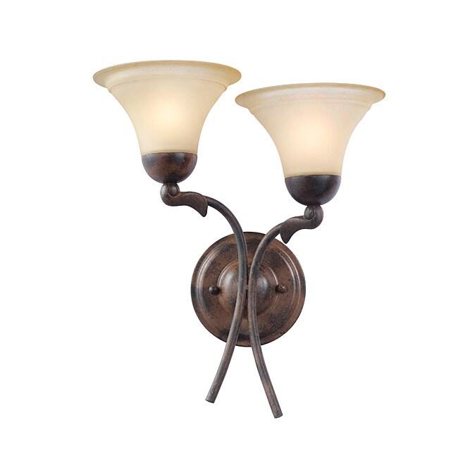 Woodbridge Lighting Darien Two-Light Royal Bronze Indoor Wall Sconce