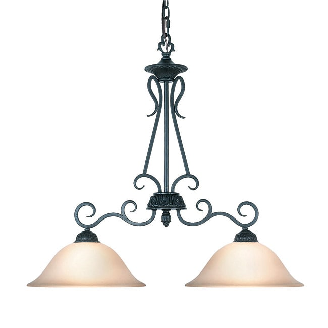 Woodbridge Lighting Jamestown 2-light Textured Black Island Light Fixture