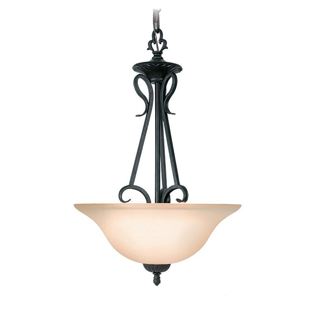 Woodbridge Lighting Jamestown 2-light Textured Black Pendant