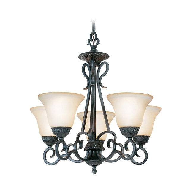 Woodbridge Lighting Jamestown 5-light Textured Black Chandelier