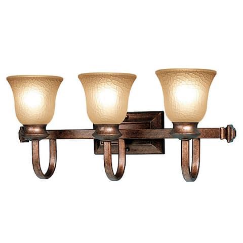 Woodbridge Lighting Dresden 3-light Marbled Bronze Bath Bar