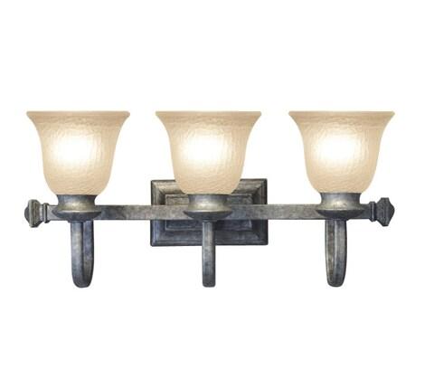 Woodbridge Lighting Dresden 3-light Greystone Bath Bar
