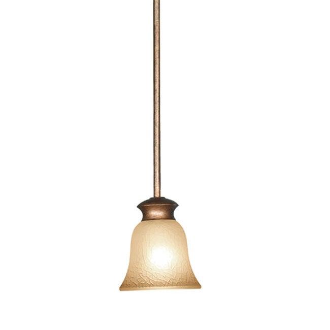 Woodbridge Lighting Dresden 1-light Marbled Bronze Mini Pendant