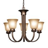 Woodbridge Lighting Dresden 5-light Marbled Bronze Chandelier
