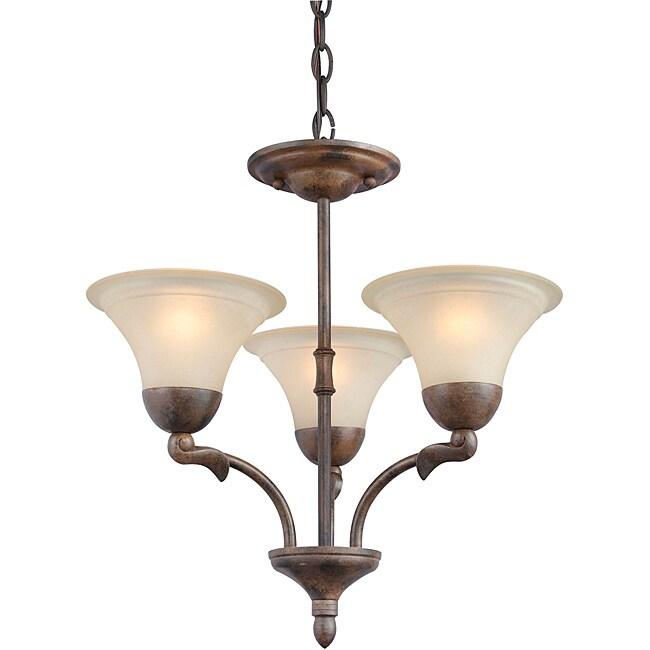 Woodbridge Lighting Darien 3-light Royal Bronze Chandelier