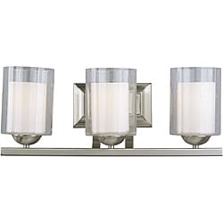 Woodbridge Lighting Cosmo 3-light Satin Nickel Bath Bar