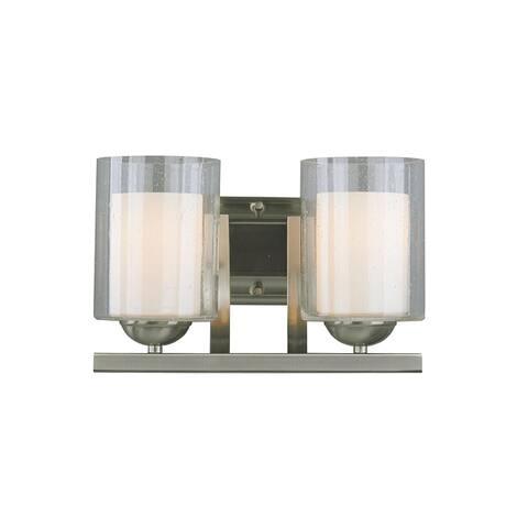 Woodbridge Lighting Cosmo 2-light Satin Nickel Bath Sconce - Satin Nickel