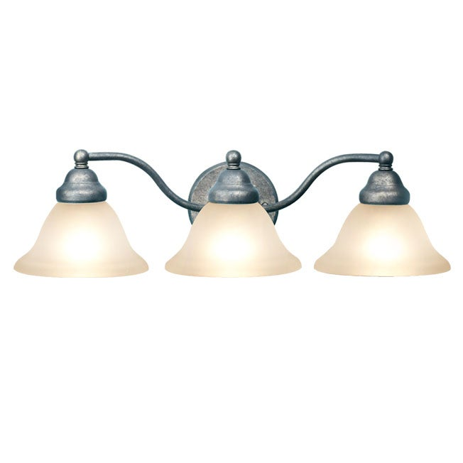 Woodbridge Lighting Anson 3-light Greystone Bath Bar Light
