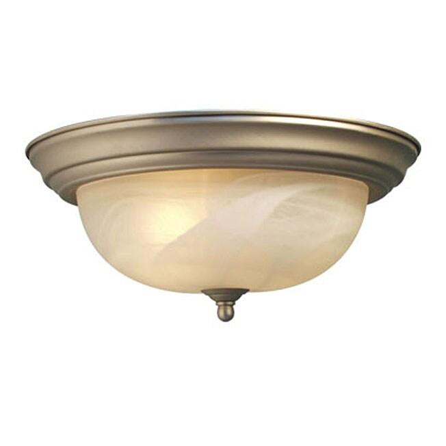 Woodbridge Lighting Anson 2-light Satin Nickel Flush Mount Light