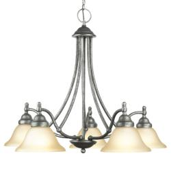 Woodbridge Lighting Anson 5-light Greystone Chandelier